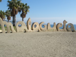 One of the beaches in Malaga