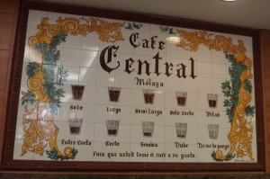 How do you like your coffee in Malaga?