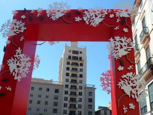 Entrance to Malaga Fair on Calle Larios