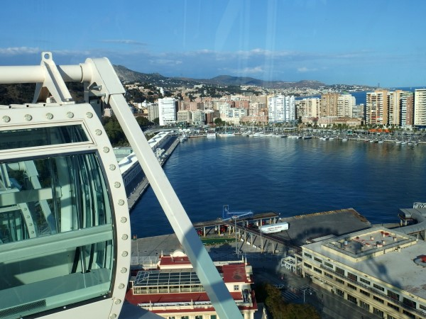 views from Malaga ferris wheel