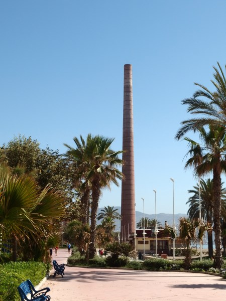 Industrial past on the beach in Malaga
