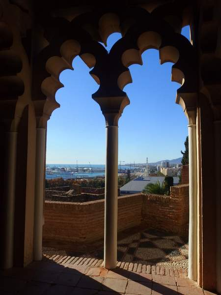 Views of Malaga from the Alcazaba