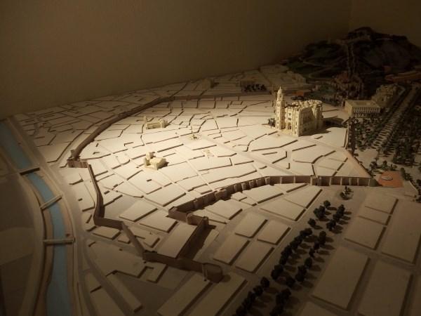 Model showing the original Malaga walls