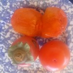 Caquis fruits in Malaga
