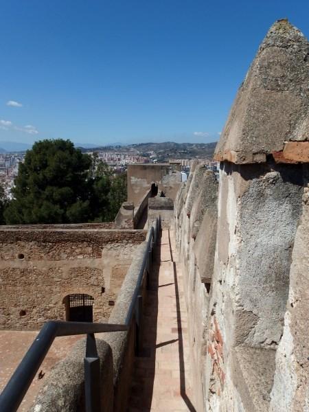 Walk the Malaga walls at Gibralfaro Castle