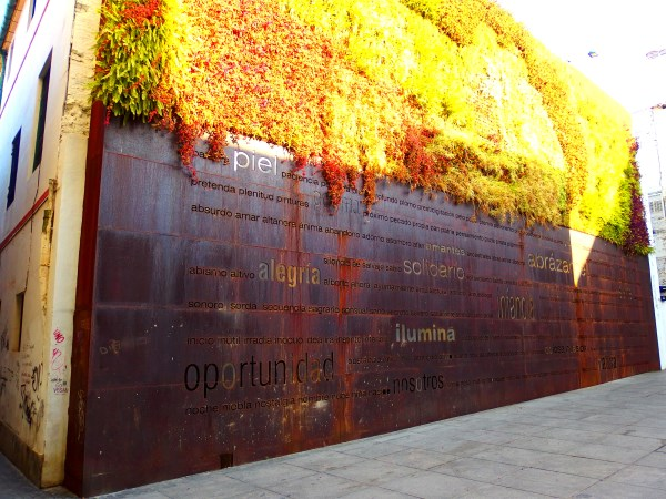 Another kind of wall - the vertical garden in Malaga