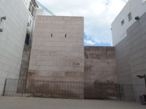 A restored stretch of Malaga walls