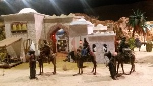 Nativity scene in Malaga at Christmas