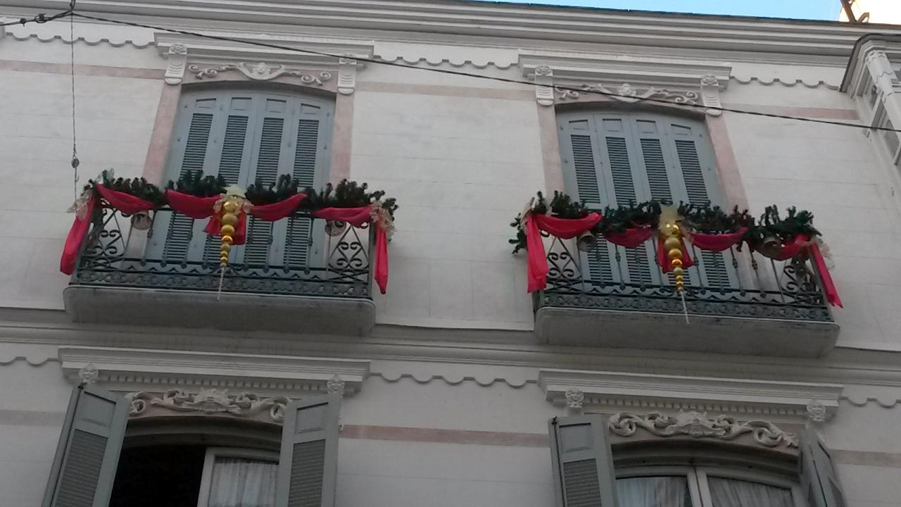 Christmas façade in Malaga