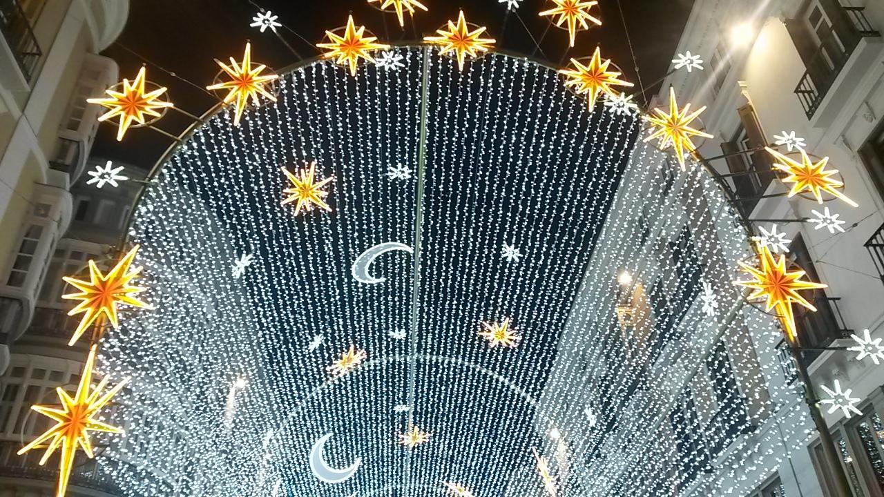Lights in Malaga at Christmas