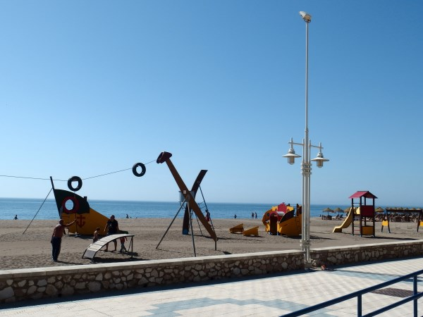 Children's playpark on Malaga walking tour