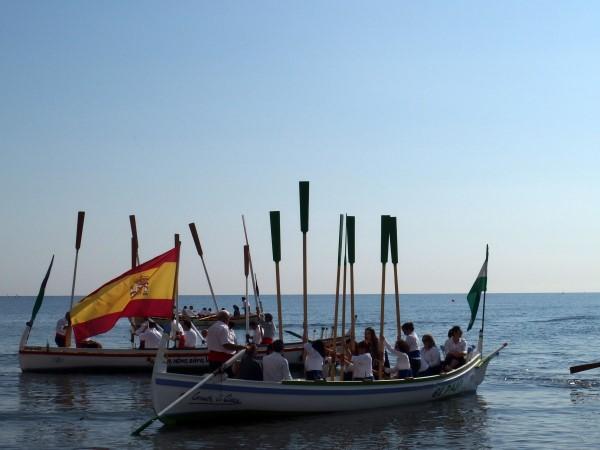 Start of jabega boat race in Malaga