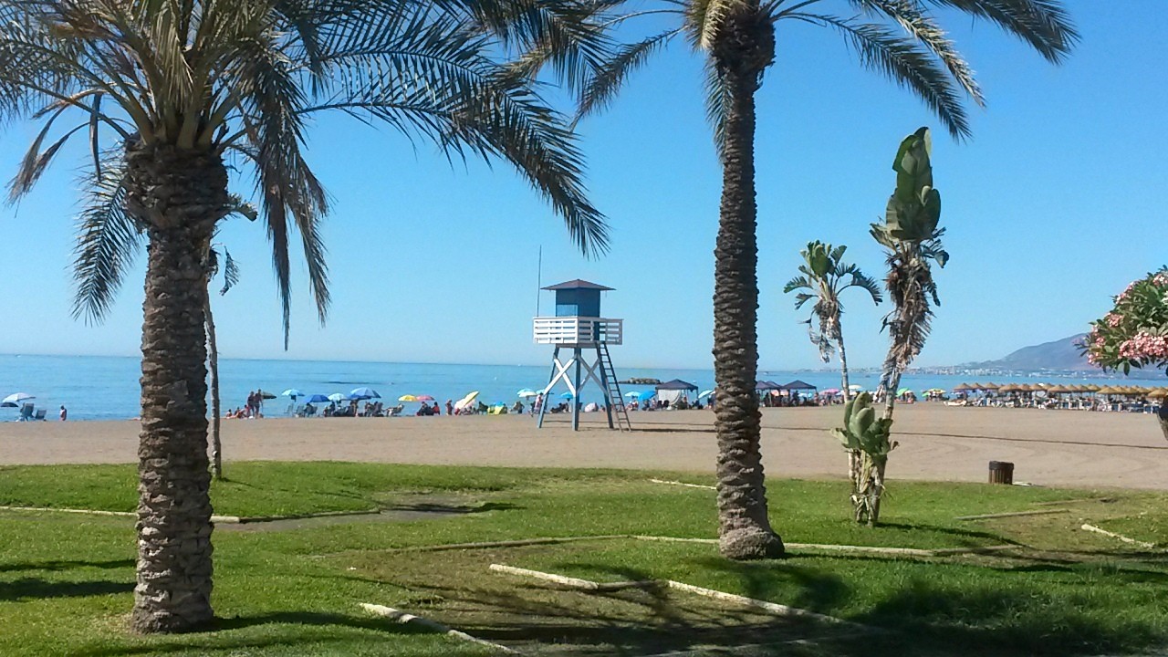 beaches in Malaga in spring