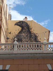 Look up high for Soho street art