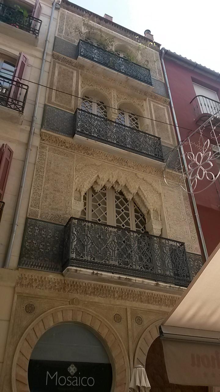Moorish façade in Malaga
