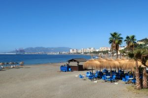 A quiet spot on the beach in Malaga