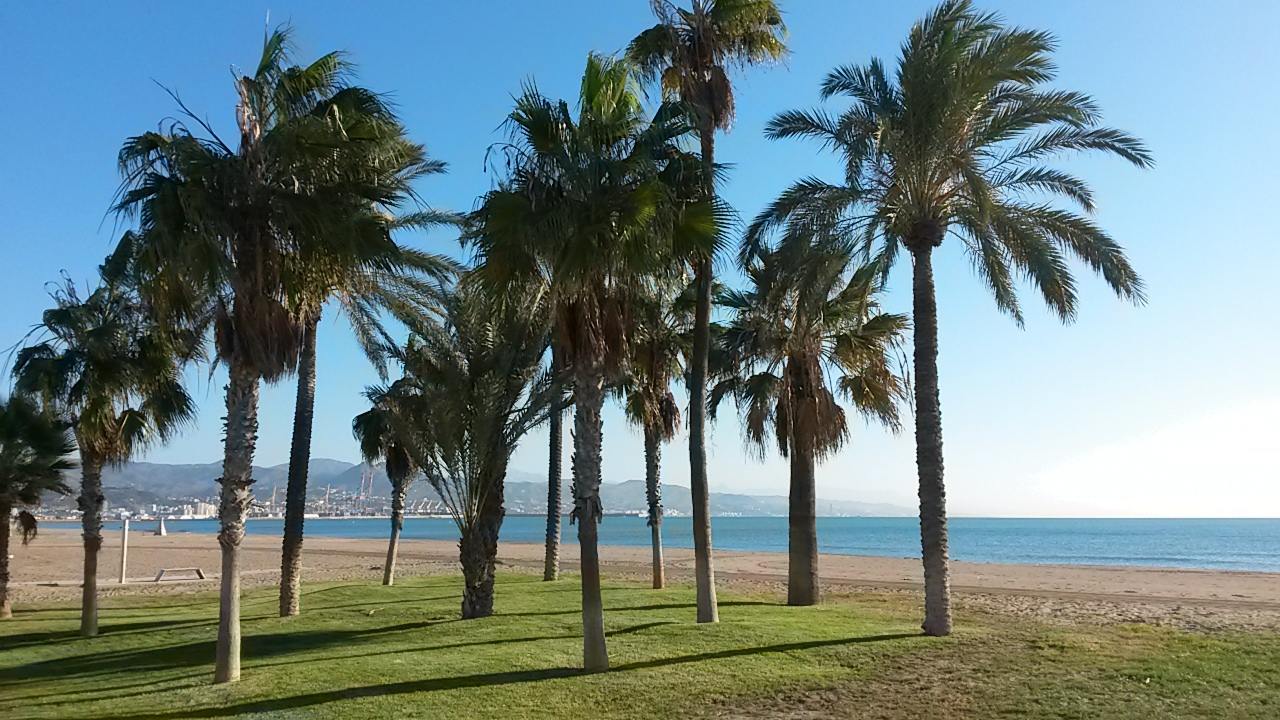 go to the beach to avoid hot weather in Malaga