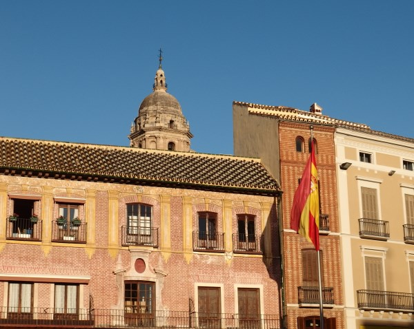Malaga Cathedral from Plaza de la Constitución