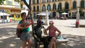 fun on a walking tour in Malaga