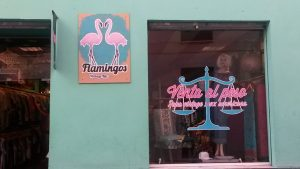 flamingo vintage shop in Malaga