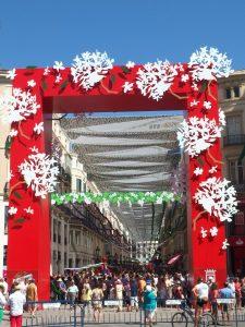 Decoration during Malaga Fair