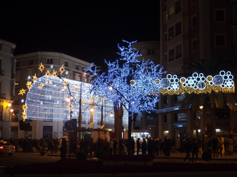 Christmas lights in Malaga Calle Larios