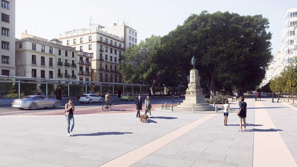 a more pedestrian friendly Malaga