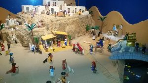 nativity scene in Malaga at Christmas