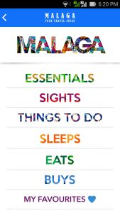 Guide to Malaga app