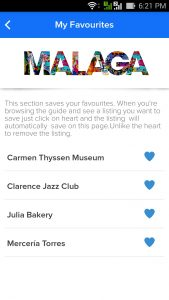 Guide to Malaga app new feature