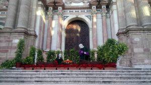 Nativity outside Malaga Cathedral