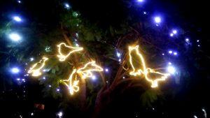 Christmas lights on Plaza de la Merced