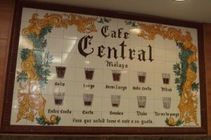 ordering coffee in Malaga