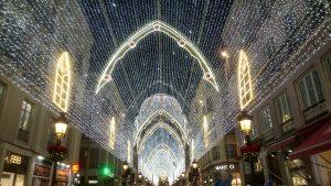 Christmas lights on Calle Larios in Malaga