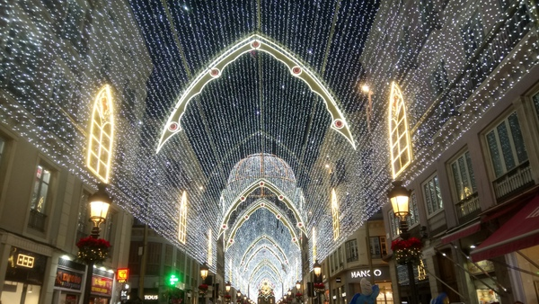 Christmas lights on Calle Larios in Malaga