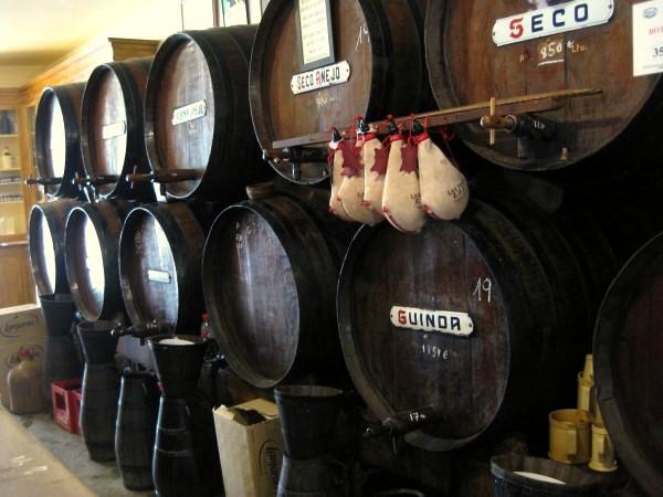 barrels of Malaga wine