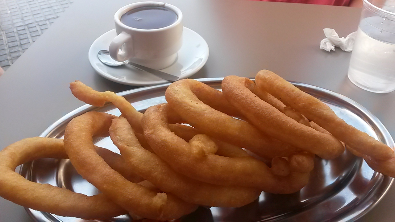 Churros typical things to eat in Malaga