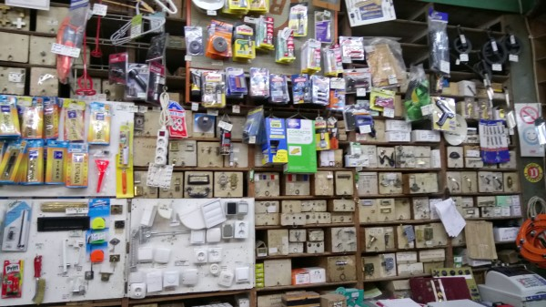 traditional shopping in Malaga ironmongers