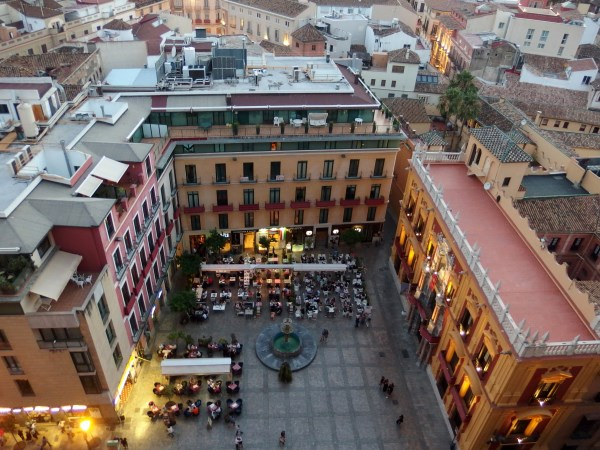 A compact city centre on holiday in Malaga