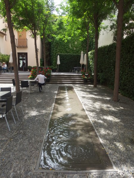 Patio at Picasso Museum cafe