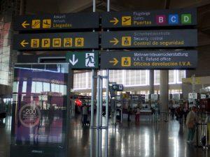inside Malaga airport