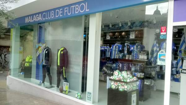Malaga football souvenirs