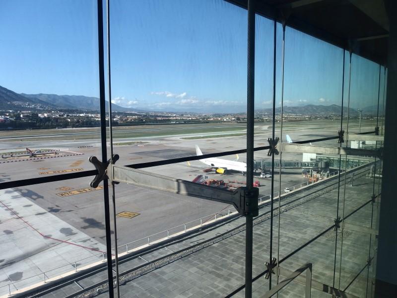 Malaga airport runway