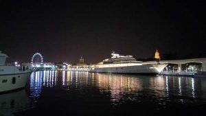 lights in Malaga port