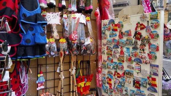 typical Malaga souvenirs