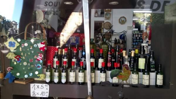 Malaga wine souvenirs