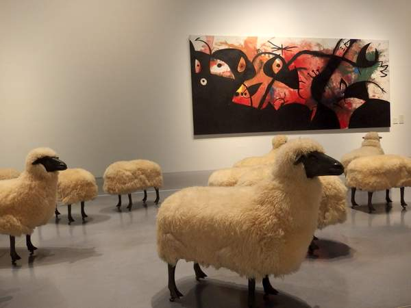 Flock of sheep by François Xavier Lalanne