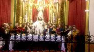 last supper throne at los martires church in Malaga