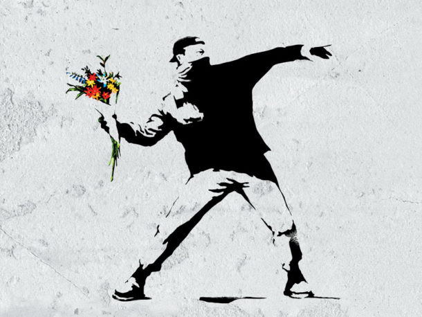 part of the Banksy exhibition on in Malaga in June