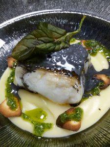 cod with black pudding at Eboka restaurant